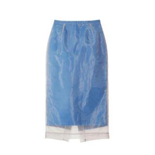 LE CIEL BLEU - ルシェルブルー  Organza Overlay Pencil Skirt