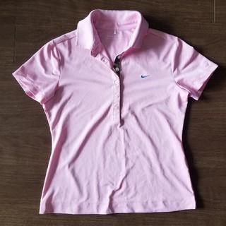 ナイキ(NIKE)のナイキ NIKEGOLF レディース ポロシャツ Mサイズ(ピンク)(ポロシャツ)