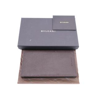 ブルガリ(BVLGARI)の《BVLGARI/型押しロゴ 二つ折り札入れ》ブラウン 箱 Aランク 極美品 (長財布)