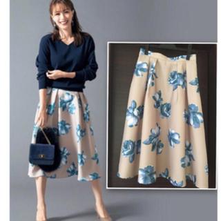 ジャスグリッティー(JUSGLITTY)のジャスグリッティー 花柄スカート Mサイズ 未使用(ひざ丈スカート)