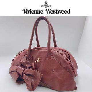 ヴィヴィアンウエストウッド(Vivienne Westwood)の【ヴィヴィアン】本革♡ビッグリボンバッグ オーブ レザー トート カバン ロゴ(ハンドバッグ)