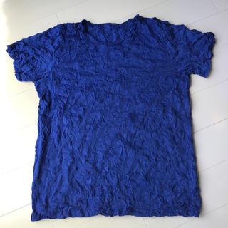 イッセイミヤケ(ISSEY MIYAKE)のイッセイミヤケ meメレンゲTーシャツ ブルー(カットソー(半袖/袖なし))