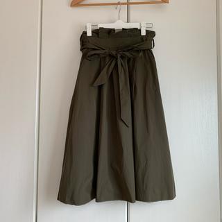 ザラ(ZARA)のZARAウエストリボンスカート(ひざ丈スカート)