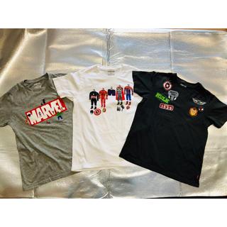 UNIQLO - 【中古】UNIQLO×MARVEL Tシャツ3枚セット 150cm