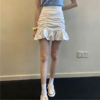 フリル スカート プリーツ 韓国