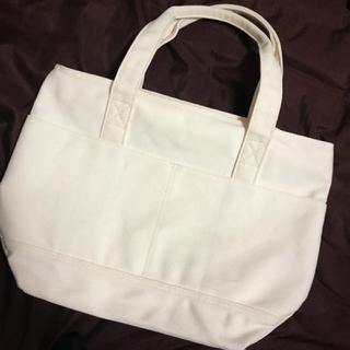 MUJI (無印良品) - 無印良品ファスナートートバッグオフホワイト 生成り