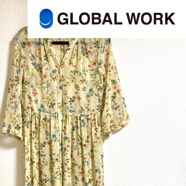 GLOBAL WORK(グローバルワーク)のGLOBAL WORK 花柄ワンピース レディースのワンピース(ロングワンピース/マキシワンピース)の商品写真