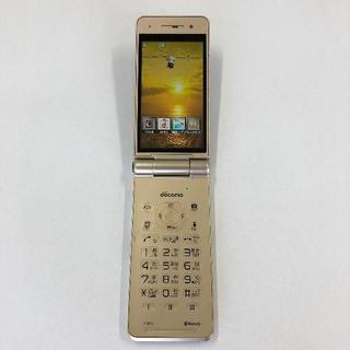 パナソニック(Panasonic)のdocomo P-01G ゴールド(携帯電話本体)