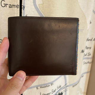 ポールスミス(Paul Smith)のポールスミス マルチストライプ 二つ折り財布 ブラウン(折り財布)