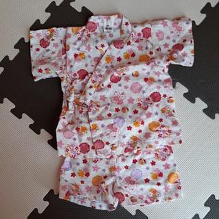 女の子 花柄 甚平 80cm(甚平/浴衣)