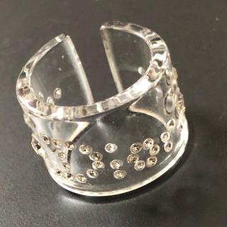 ディオール(Dior)のクリスチャンディオール  クリア リング 12号 値下げ(リング(指輪))