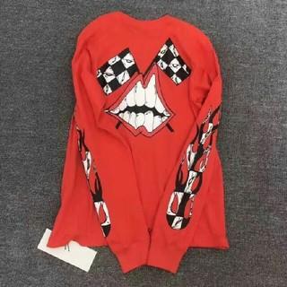 クロムハーツ(Chrome Hearts)のChrome Hearts 赤い長袖の上着  男女兼用(Tシャツ/カットソー(七分/長袖))