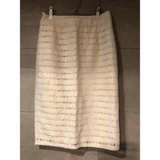 フリーズマート(FREE'S MART)のFREE'S MART ボーダーレースペンシルスカート(ひざ丈スカート)