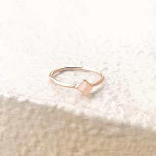 Ameri VINTAGE - rose quartz losange ring*ローズクォーツロザーンジュリン