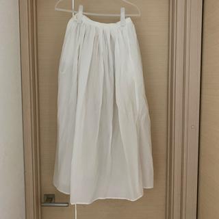 ムジルシリョウヒン(MUJI (無印良品))のオーガニックコットン楊柳ギャザースカート(ロングスカート)