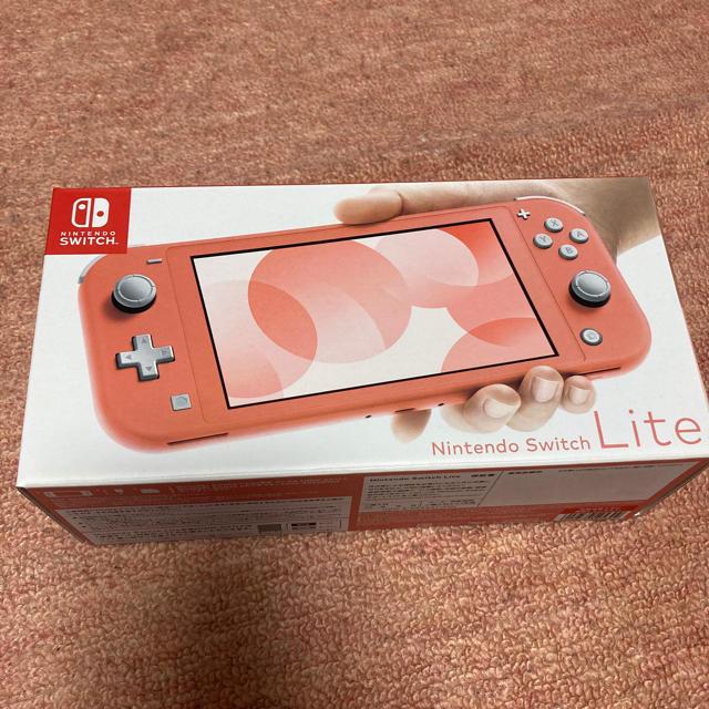 Nintendo Switch(ニンテンドースイッチ)のNintendo  switch lite コーラルピンク 新品未使用 送料無料 エンタメ/ホビーのゲームソフト/ゲーム機本体(携帯用ゲーム機本体)の商品写真