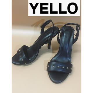 イエローブーツ(Yellow boots)のYELLO パンプス ピンヒール 約22cm 黒 ミュール スタッズ(ハイヒール/パンプス)