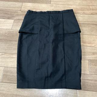 ザラ(ZARA)のZARA ペプラムタイトスカート(ひざ丈スカート)
