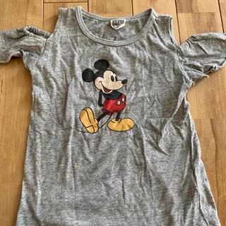 エフオーキッズ(F.O.KIDS)の肩出しミッキーTシャツ(Tシャツ/カットソー)