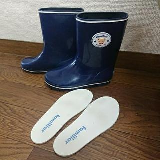 ファミリア(familiar)のfamiliar  レインシューズ  17㎝  紺(長靴/レインシューズ)