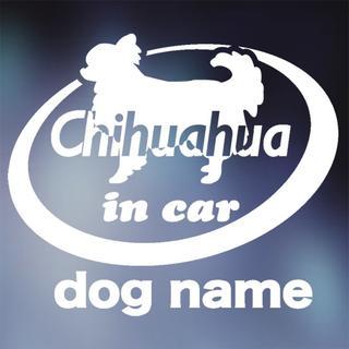 チワワ in carステッカー、犬ステッカー(犬)