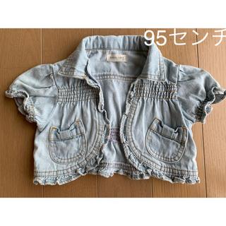 ニシマツヤ(西松屋)の女の子 デニム 半袖 ジャケット 95センチ(ジャケット/上着)