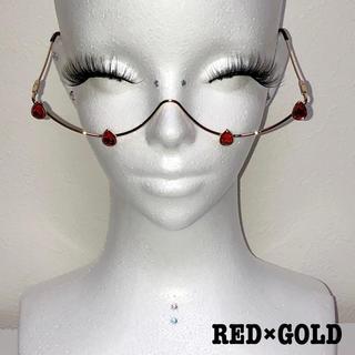 ドロップストーンワイヤーグラス(RED)(サングラス/メガネ)