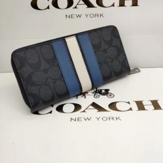 コーチ(COACH)のCOACH コーチ ラウンドファスナー 長財布 シグネチャー F26070(長財布)
