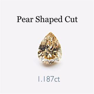 涙の美しい煌めき…✨1.187ctダイヤモンド…✨ペアシェイプカット(リング(指輪))