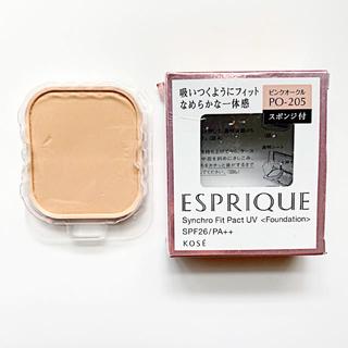 ESPRIQUE - 9割以上✴︎ エスプリーク シンクロフィット パクト ピンクオークル 205