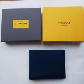 エッティンガー(ETTINGER)の【新品・未使用】Ettinger エッティンガーブライドルレザー本革二つ折り財布(折り財布)