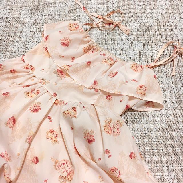 LIZ LISA(リズリサ)のLIZ LISA 花柄 ピンク シフォン キャミ ワンピース レディースのワンピース(ミニワンピース)の商品写真