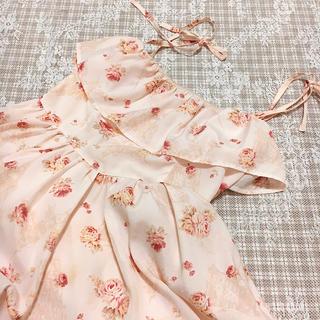 LIZ LISA - LIZ LISA 花柄 ピンク シフォン キャミ ワンピース
