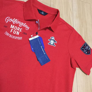 Munsingwear - M 新品マンシングウェア メンズ半袖ポロシャツゴルフシャツ