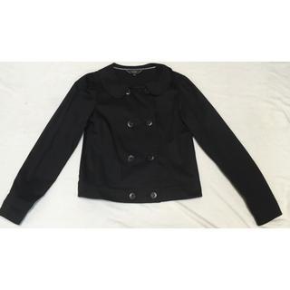 アニエスベー(agnes b.)のトゥビーバイアニエスべー 丸襟ジャケットコートS Pコートトレンチライダース(ノーカラージャケット)