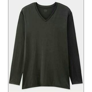 ユニクロ(UNIQLO)の新品 UNIQLO ユニクロ 長袖エアリズム AIRism 黒 大きいサイズ(Tシャツ(長袖/七分))