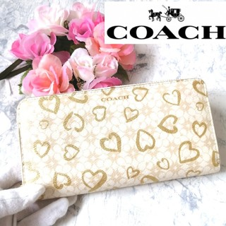 コーチ(COACH)の美品♥コーチ♥COACH♥財布♥長財布♥ラウンドファスナー♥ 339(財布)
