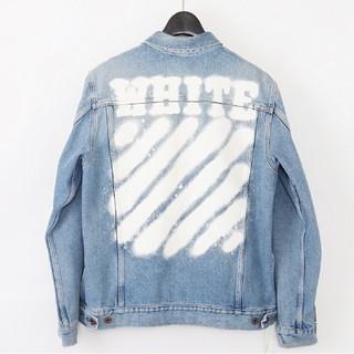 オフホワイト(OFF-WHITE)のOff-white 17SS スプレー デニムジャケット spray XS(Gジャン/デニムジャケット)