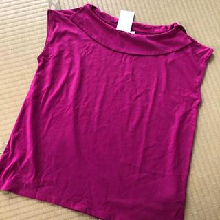 テチチ(Techichi)のテチチ襟付きカットソーパープル(カットソー(半袖/袖なし))