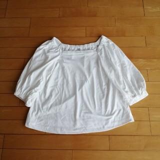 ユニクロ(UNIQLO)のUNIQLO Tシャツ ホワイト(Tシャツ(長袖/七分))