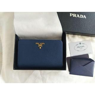 PRADA - PRADA 美品 bluette 二つ折り財布