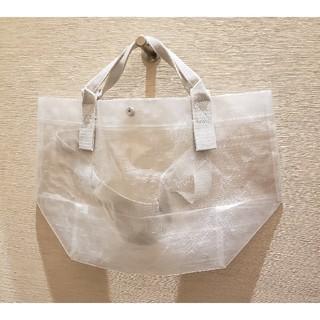 ムジルシリョウヒン(MUJI (無印良品))の無印良品 ポリエチレンシート・ミニトートバッグ約45×26×19cm・半透明(エコバッグ)