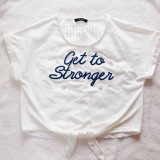 イング(INGNI)のINGNI シアー Tシャツ オフホワイト(Tシャツ/カットソー(半袖/袖なし))