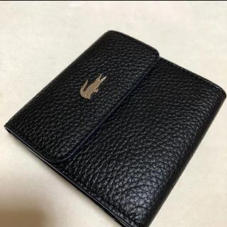 ラコステ(LACOSTE)のLACOSTE ラコステ 折りたたみ財布 黒色(折り財布)
