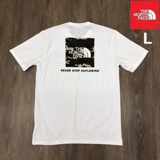 ザノースフェイス(THE NORTH FACE)のノースフェイス 半袖Tシャツ ボックスロゴ(L)白 迷彩 180902(Tシャツ/カットソー(半袖/袖なし))