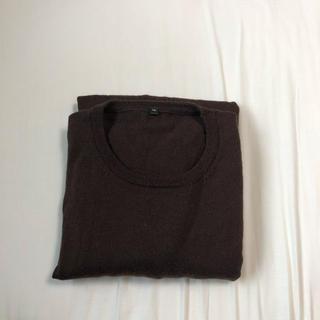 ムジルシリョウヒン(MUJI (無印良品))のメリノウール 洗えるハイゲージクルーネックセーター 紳士XL・ブラウン(ニット/セーター)