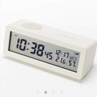 ムジルシリョウヒン(MUJI (無印良品))の無印良品   デジタル電波時計  ホワイト  新品未使用(置時計)