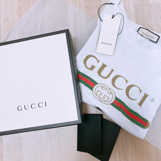 グッチ(Gucci)のGUCCI  ロゴウォッシュド オーバーサイズ Tシャツ(Tシャツ/カットソー(半袖/袖なし))