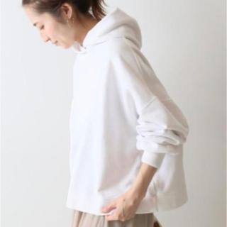 FRAMeWORK -  FRAMeWORK ショート丈フードパーカー 白 新品 美品