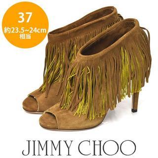 ジミーチュウ(JIMMY CHOO)のジミーチュー/ジミーチュウ フリンジ ブーティー 37(約23.5-24cm)(ブーツ)